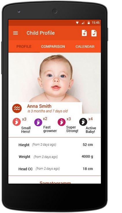 KidSteps - Profil eines Kindes
